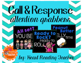 Call and Response Attention Grabber Posters