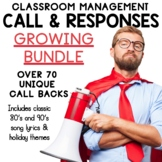 Call and Response Behavior Management Cards **GROWING BUNDLE**