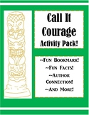 Call it Courage Novel Activity Pack! Bookmarks, Fun Facts