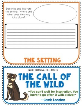 Call of the Wild Book Companion, Flip Book Project, Novel Guide