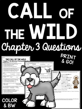 Call of the Wild Chapter 3 Questions- Reading Comprehension