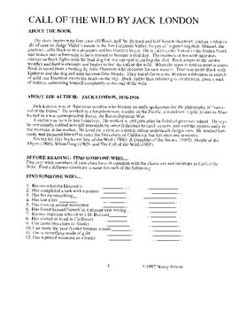 Call of the Wild Literature Activity Guide