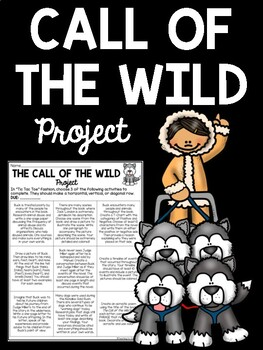 Call of the Wild Project with 9 Choices- students choose 3, Jack London
