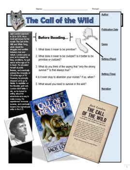 Call of the Wild Guided Reading Packet