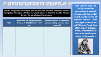 Call of the Wild Full Unit PowerPoint