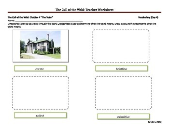 Call of the Wild (adapted version) Teacher Worksheets