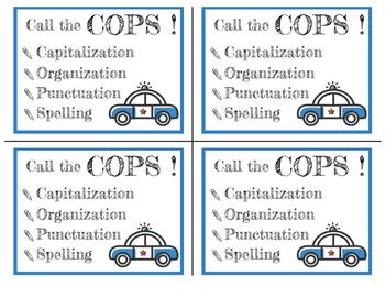 Call the COPS! Poster and Desktop Reminder Card Set