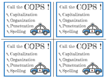 Call the COPS! Poster and Desktop Reminder Card Set