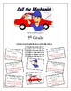 Call the Mechanic! 5th Grade Commas & Punctuation Game Packet