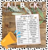 Callbacks & Attention Getters