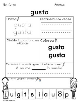 Calle High Frequency words