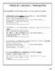 Calle de la Lectura 3ro - Unidad 1 Semana 1 - Paquete de tarea/actividades