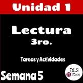 Lectura 3ro - Unidad 1 Semana 5 - Paquete de tarea/actividades