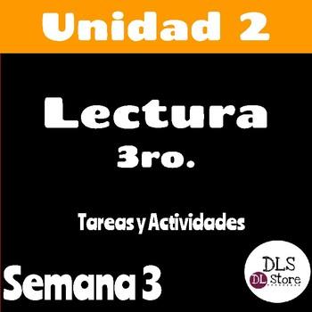 Calle de la Lectura 3ro - Unidad 2 Semana 3 - Paquete de tarea/actividades
