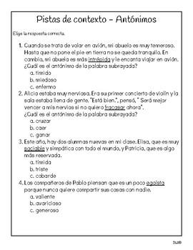 Calle de la Lectura 3ro - Unidad 2 Semana 4 - Paquete de tarea/actividades