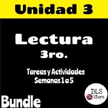 Calle de la Lectura Unidad 3 - Semanas 1 a 5 - 3er Grado - Bundle