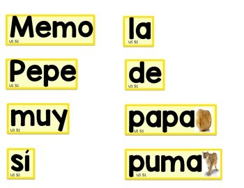 Calle de la lectura: Selected Word Wall Words Unit 1 Weeks 1, 2 and 3