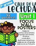 Calle de la lectura  Unit 1 Focus Chart Posters