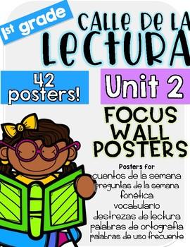 Calle de la lectura| Unit 2 Focus Chart Posters