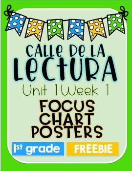 Calle de la lectura| Unit 1 Week 1 Focus Chart Posters