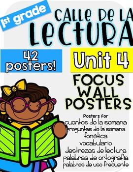 Calle de la lectura| Unit 4 Focus Chart Posters