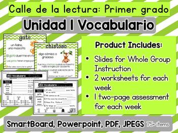 Calle de la lectura |Vocabulario| Unidad 1| Vocabulary| Unit 1| Grade 1