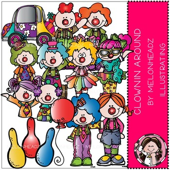 Melonheadz: Clownin Around clip art - COMBO PACK