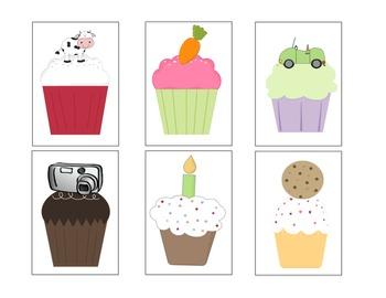 Cat's Cupcakes - Letter C Beginning Sound Sort