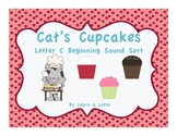 Cat's Cupcakes - Letter C Beginning Sound Sort