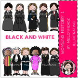 Women in History clip art Part 1 - BLACK AND WHITE- by Melonheadz