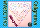Calligram Writing Heart Card Corazón Caligrama Madre Padre Mother's Father's day