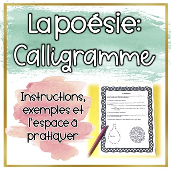 Calligramme - Poésie