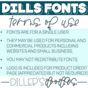 Calligraphy Font: Dills Milkshake
