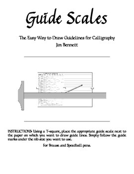 Calligraphy Guide Scales