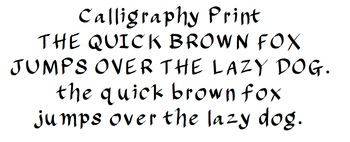 Calligraphy Print: Font for Personal + Commercial Use