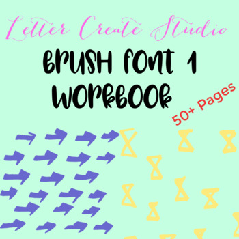 Brush Lettering Workbook, Hand Lettering Worksheets, Calligraphy Lesson
