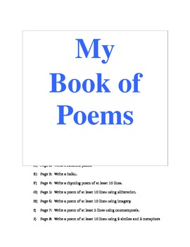 Calling All Poets!  Poetry Book