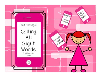 Calling All Sight Words!  Sight Word Game and Assessment activities