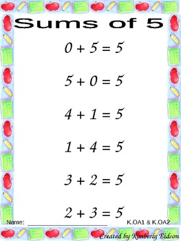 Calling All Sums 0-5 Addition Word Problems