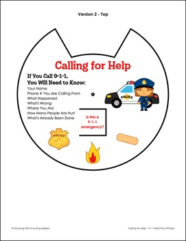 "Calling for Help... - Girl Scout Brownies - ""First Aid"" Activity Pack (Step 1)"