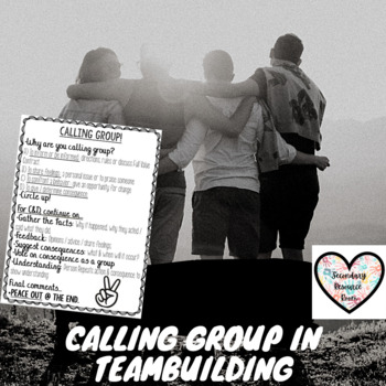 Calling group while teambuilding