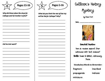 Calliope's History Mystery Trifold - ReadyGen 6th Grade Un