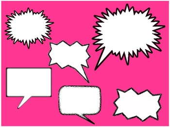 Call Outs and Cartoon Speech Bubble FREEBIE