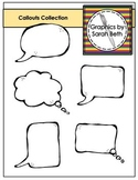 Callouts Collection - Clipart Graphics - Speech & Thought Bubbles