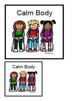 Calm Body Poster; Classroom Management
