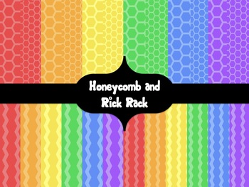 Calm Brights Digital Backgrounds {Honeycomb and Rick Rack}
