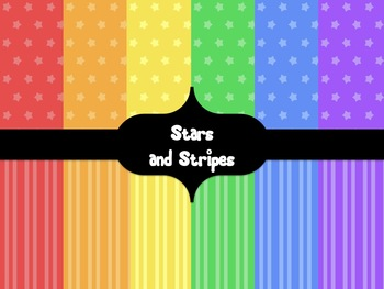 Calm Brights Digital Backgrounds {Stars and Stripes}