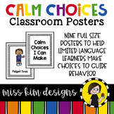 Calm Choices Classroom Posters