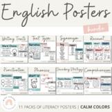 Calm Colors Decor   English Posters Bundle   MODERN RAINBOW Color Palette