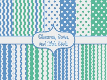Calm Colors Digital Backgrounds {Summer Sky, Puffy Clouds, and Lt. Jungle Green}